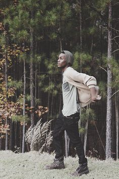 Donte in UO's Kr3w pocket tee #urbanoutfitters