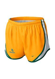 #Baylor Bears Women's Nike Gold Tempo Shorts