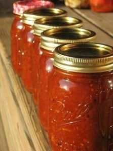 This recipe is adapted from one of my favorite cookbooks, Cooking from Quilt Country by Marcia Adams. Actually, I am a HUGE Marcia Adams f. Chili Sauce Recipe Canning, Canning Homemade Spaghetti Sauce, Homemade Chili Sauce, Canned Spaghetti Sauce, Homemade Pickles, Canning Recipes, Canning 101, Homemade Salsa, Tomato Chilli Jam
