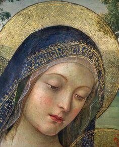 Pinturicchio - Madonna of Peace. Detail.