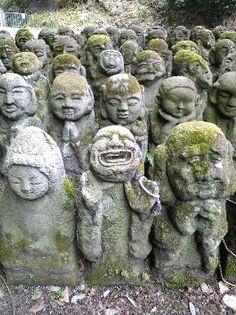 """;) ... stone """"rakan"""" statues Japan"""