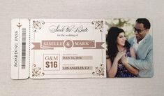 Boarding Pass Save the Date MAGNET // Photo by SocialSavvyDesign