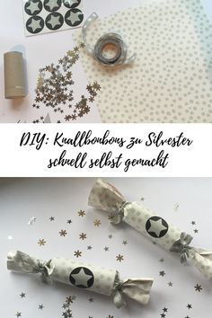 Einfache Knallbonbons für Silvester mit Kindern! #diy #silvester #basteln #bastelnmitkindern Diy Silvester, Silvester Party, Place Card Holders, Crafts, Amelie, Kindergarten, Inspired, Baby, Manualidades