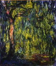 This is probably my favorite painting ever.  Monet Weeping Willows (1918) from the Columbus Museum of Art.
