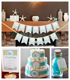 Haute Chocolate - Calgary Party Styling and Custom Party Decor: Under the Sea Baby Shower {Haute Chocolate Party Styling}