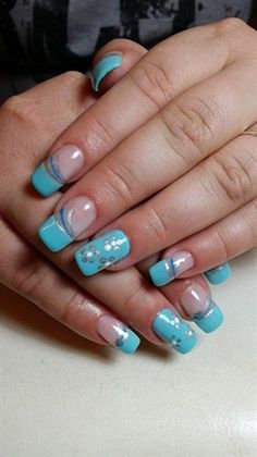 Aquamarine by soniaalexandrou - Nail Art Gallery nailartgallery.nailsmag.com by Nails Magazine www.nailsmag.com #nailart