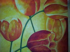 Tulipanes óleo