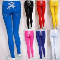 Trousers Jeans Jeggings Black Red Purple Blue Pink Uk Size 8 10 12 14 16