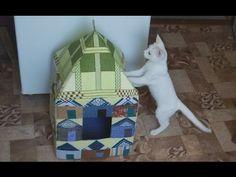Домик для кошки своими руками: чертежи с размерами, видео мастер-класс