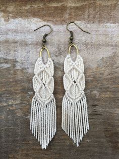 Macrame Earrings by OurFortuitousFox on Etsy