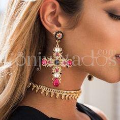 Pendientes Krysse fucsias ★ 14'95 € en https://www.conjuntados.com/es/pendientes-dorados-krysse-con-cristales-fucsias.html ★ #pendientes #earrings #conjuntados #conjuntada #joyitas #lowcost #jewelry #bisutería #bijoux #accesorios #complementos #moda #eventos #fashion #outfit #estilo #style #streetstyle #GustosParaTodas #ParaTodosLosGustos