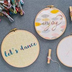 DIY Embroidered Coloris Hoops