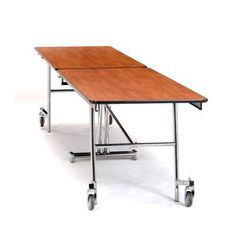 """National Public Seating 145"""" x 30"""" Rectangular Cafeteria Table Frame Finish: Powder Coat, Tabletop Color: Persian Blue, Size: 10' Length"""