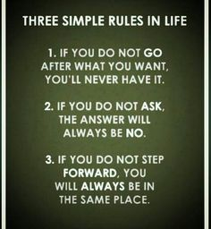 Three Simple Rules That Could Change Your Life    These 3 simple rules would change your life.