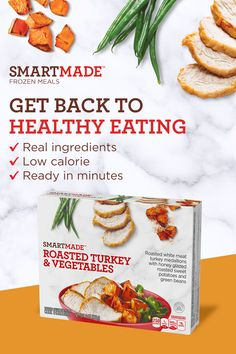 Get back to healthy eating with SmartMade - convenient, low calorie meals made with real ingredients. Tap the Pin to learn more. Halibut Recipes, Pork Recipes, Healthy Recipes, Recipies, Chicken Parmesan Recipes, Chicken Wing Recipes, Cauliflower Recipes, Acerola, Diner Recipes