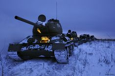 Tanks, Snow And Movie Shooting | English Russia