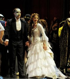 Sierra Boggess and Ramin Karimloo as the Phantom and Christine Daae. - The Phantom of the Opera