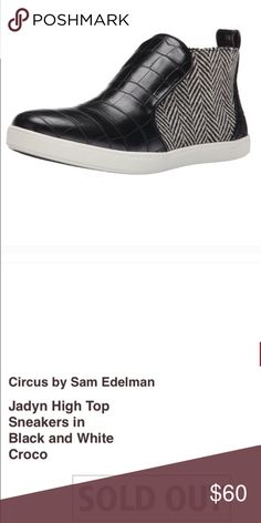 7411c006e867 Circus by Sam Edelman Jadyn High Top Sneakers...... Black