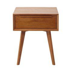 Table de chevet vintage avec tiroir en chêne massif L 45 cm Portobello | Maisons…