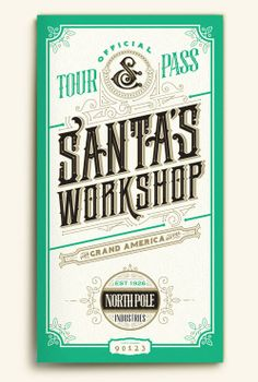 Holidays at the Grand 2013 by Russ Gray, via Behance