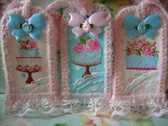 Set 3,shabby,cottage,alttered art,2 sided,glitter,cake,tags 1 by stephanies cottage!, via Flickr