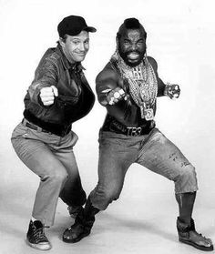 A. and Murdock A-team- The Best Team of all. 80 Tv Shows, Old Shows, Movies And Tv Shows, The Ateam, Dwight Schultz, A Team Van, Mr T, George Peppard, Libros