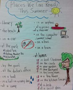 Finish Off the Year With Amazing Summer Reading Plans. Make into a checklist for them to take home and check off!!