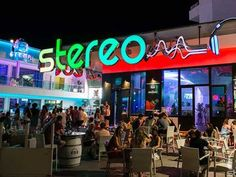 Outside view of Stereo bar Magaluf, Mallorca.