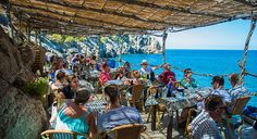 The beautiful Cala Deià is the location of this popular fresh-seafood restaurant perched on the cliff overlooking the sea. Booking highly recommended!