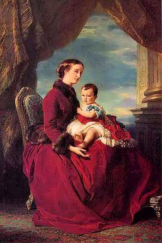 1857 TheEmpress Eugénieholding Louis Napoleon byFranz Xaver Winterhalter (private collection)