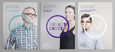Healthcare Advertising : New Logo and Identity for Australian Cancer Research Foundation by RE: Visual Identity, Brand Identity, Circle Logo Design, Graphic Design, Research Poster, Brand Guide, Design Department, Print Layout, Editorial Design