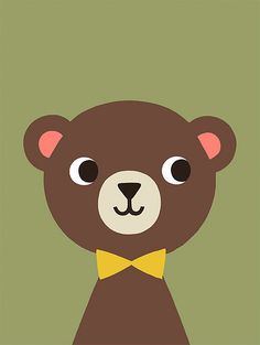 Limited edition art print Mr Bear by Mélusine Allirol. Buy it now!