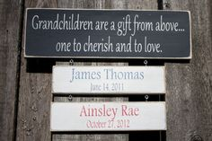 Grandparents Quote with Grandchildren Tiles by RusticPineDesigns - I LOVE LOVE LOVE this! for grandparents (or parents!) - $50 (inc quote + 2 tiles) / $5 for additional tiles