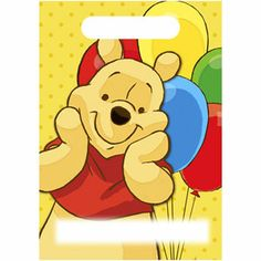 Winnie The Pooh Stickers Fun Party Bag Loot Bag Fillers 10 Sheets Pooh Bear