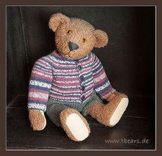 Traditional bear: Herman Huggles, 38 cm from Karin Jehle's artist bears.