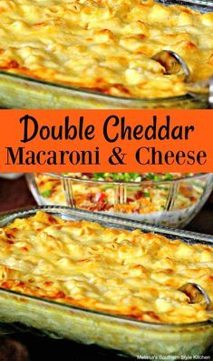 Double Cheddar Macaroni and Cheese recipes cheese Southern Macaroni And Cheese, Macaroni Cheese Recipes, Pasta Recipes, Old Fashion Macaroni And Cheese Recipe, Wisconsin Mac And Cheese Recipe, Old Fashioned Mac And Cheese Recipe, Yummy Recipes, Gourmet Mac And Cheese, Macaroni And Cheese Casserole