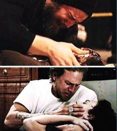 Sons of Anarchy~~ Opie & Donna and Jax & Tara... two heartbreaking scenes.