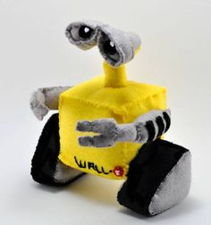 Used some felt and stuffing to make this little guy. Wall-e, the garbage compactor from Pixar Animation. https://www.etsy.com/shop/sockart http://rhythmsofgrace.ca/thelab/