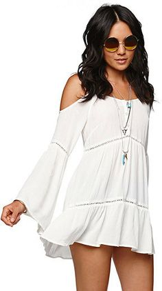 I would wear with shorts..... Kendall & Kylie Cold Shoulder Tunic