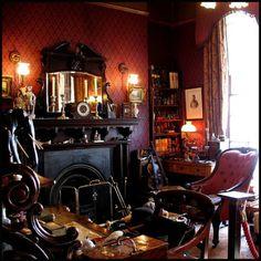 My Bohemian Home ~ Living Rooms Sherlock Holmes Museum in London (thanks, lifeisnesi!)