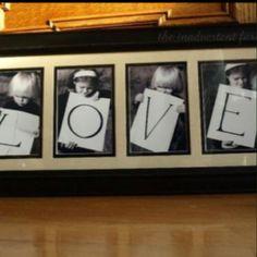 great idea! - FOUR kids = four letters!! - it works!!!