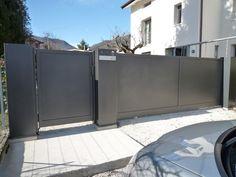 Modern Main Gate Designs, Modern Fence Design, Front Gates, Entrance Gates, Metal Gates, Sliding Gate, Ireland Homes, Driveway Gate, Pergola