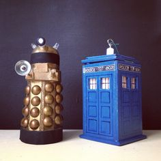 DIY Dalek and TARDIS ornaments via Modfrugal