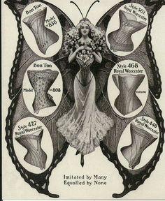 Antique corset illustration.