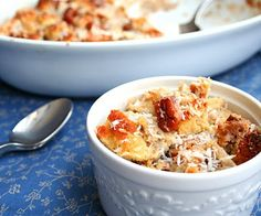 Thai Coconut Bread Pudding with Vanilla Cardamom Cream (Low Carb and Gluten Free)   All Day I Dream About Food
