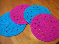 easy simple round crochet placemat place setting free crochet pattern