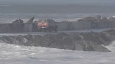 Idiot Drives Truck Onto Jetty During High Surf Advisory, Has To Be Helicoptered Out