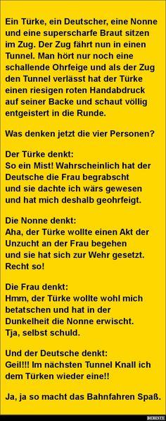 Ein Türke, ein Deutscher, eine Nonne und eine superscharfe..   Lustige Bilder, Sprüche, Witze, echt lustig