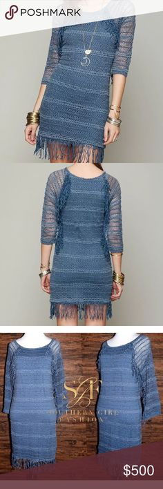 FREE PEOPLE Dress Fringed Crochet Raglan Bodycon Available Sizes: M, L. New With Tags. $396 Retail + Tax.  • Beautiful & sophisticated, this stretchy raglan mini dress features pretty crochet inset detailing & fringed trim along exterior seams. • Mini dress lining; 3/4 long sleeves.  • By Nightcap for Free People. • Measurements provided in comment(s) section below.  {Southern Girl Fashion - Closet Policy}  ✔️ Same-Business-Day Shipping (10am CT). ✔️ Reasonable best offer considered when…