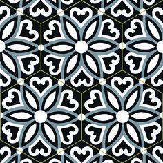 Carrelage imitation ciment toile grise et noire 20x20 cm calvet 30e m2 pat - Acheter carreaux de ciment ...
